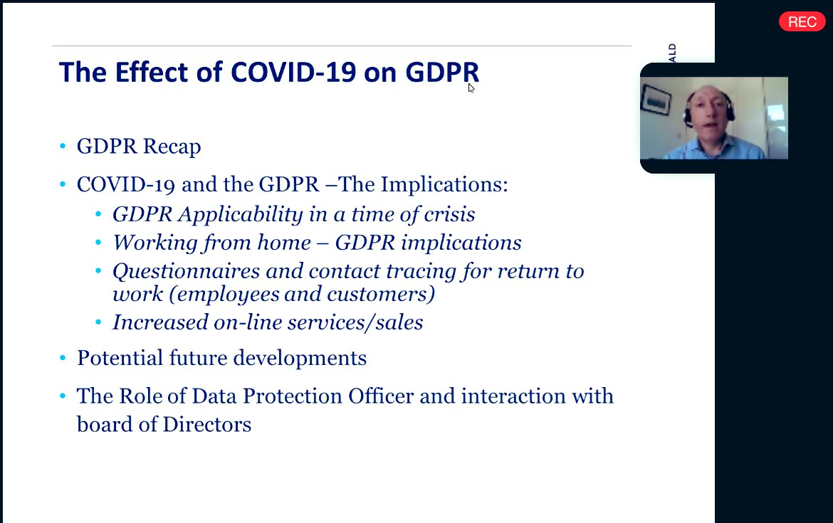 The Effect of COVID-19 on GDPR- What Directors Need to Know
