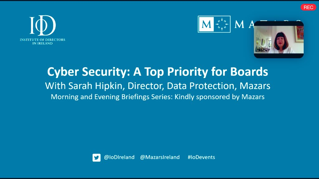 Cyber Security - A Top Priority for Boards