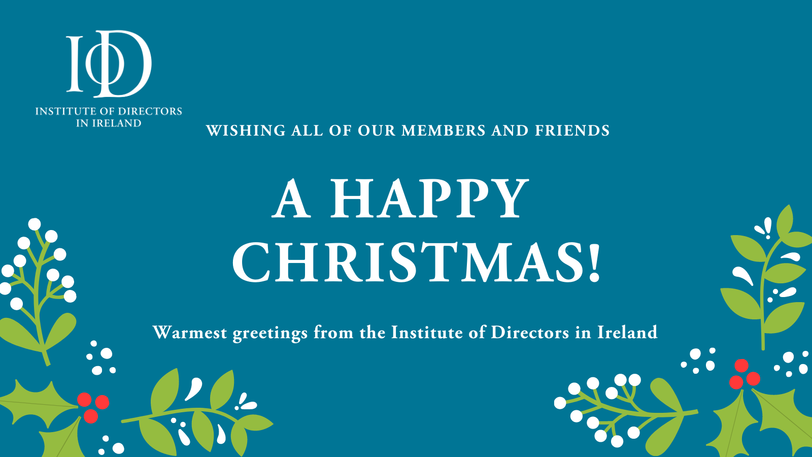 Happy Christmas from all at IoD Ireland